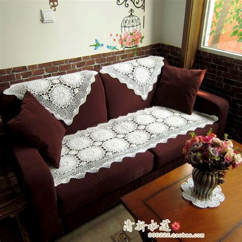 Sofa Covers Set by 2014 Fashion Design Cotton Crochet Lace Sofa Cover