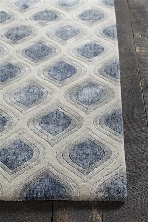 Gray And Blue Area Rug Clara Collection Tufted Area Rug In Blue Grey White Design By Burke Decor
