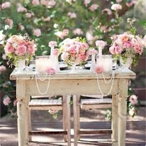 shabby chic wedding table decorations shabby chic sweetheart table use for refreshment table for