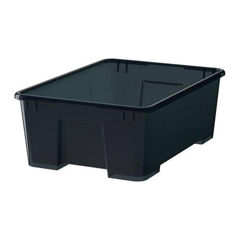 ikea tool storage samla box black ikea