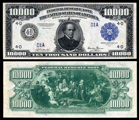printable images of us currency file us 10000 frn 1918 fr 1135d jpg wikipedia