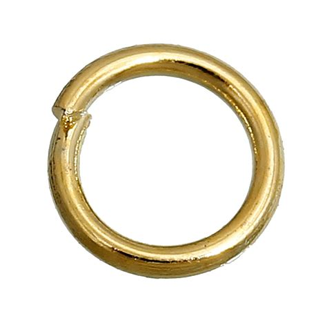 jump rings for jewelry aliexpress buy 8seasons 1200pcs 5mm gold plated open