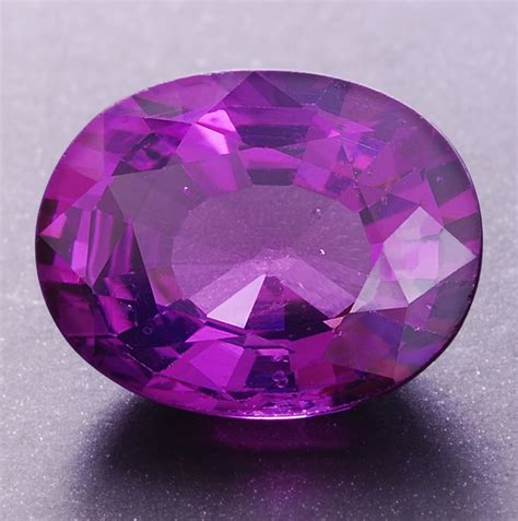 purple spinel oval weighing 3 07 cts purple eater