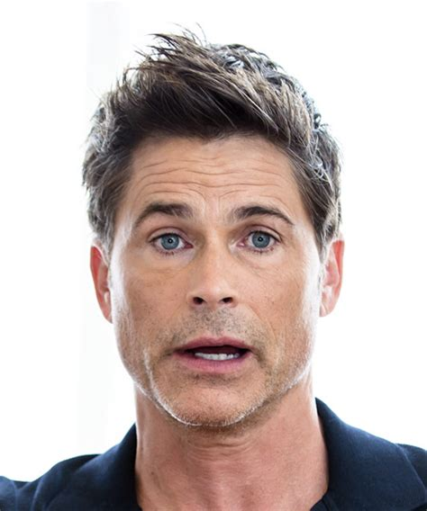 men hair cuts for men with big heads rob lowe short straight formal hairstyle with razor cut bangs medium brunette