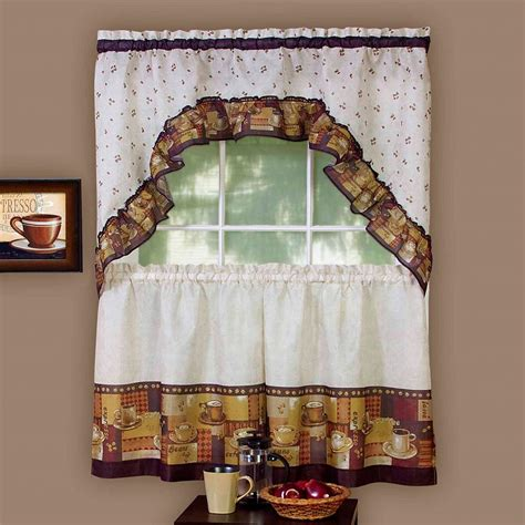 Kitchen Curtains Coffee Theme Coffee Themed Kitchen Curtains Ideas Coffee Themed Kitchen Curtains Dearmotorist