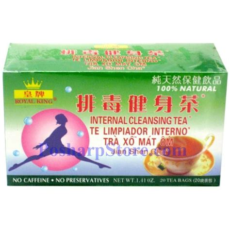 Ahmad Tea Detox Cleanse Reviews by Royal King Cleansing Herbal Tea 20 Teabags