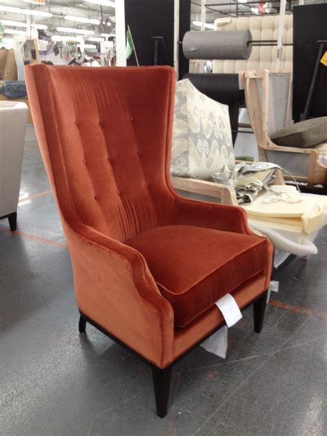 red curtains living room wake dbf shoot pinterest the elliott wing chair looks handsome in this persimmon