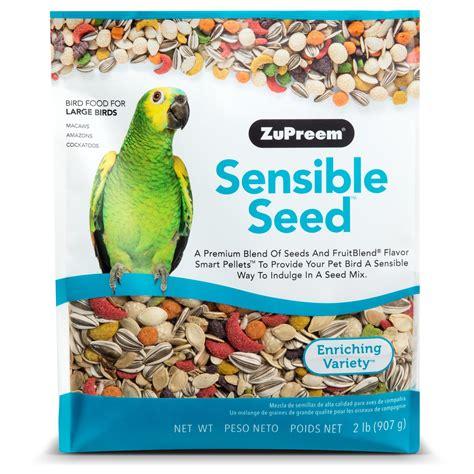 zupreem sensible seed bird food for large birds 2 lbs