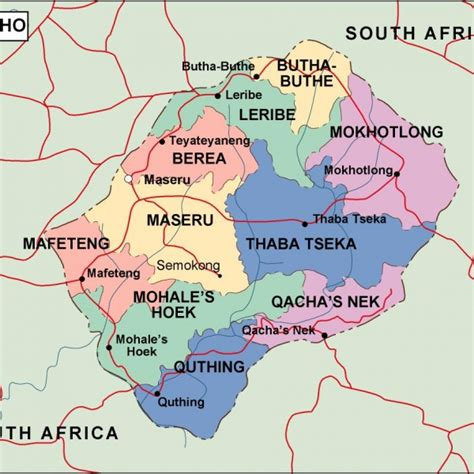 lesotho map lesotho maps vector wall maps made in barcelona from netmaps 174