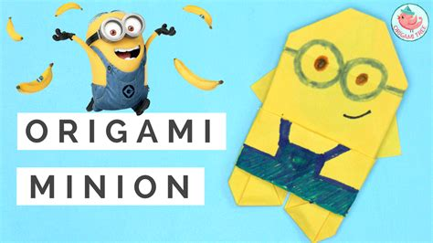 tutorial origami 3d minion origami minion tutorial 187 origamitree com