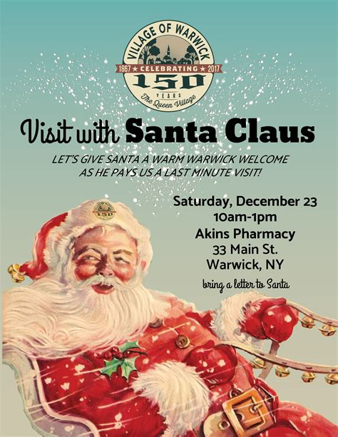 Santa Claus Coming santa claus is coming to town of warwick