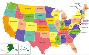 the state of map u s map of most iconic athlete from each state craveonline