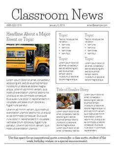 Word Vorlage Zeitungslayout 15 free microsoft word newsletter templates for teachers