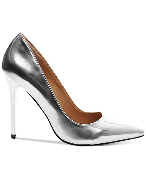 Metallic Pointed Pumps madden ohnice pointed toe pumps in silver silver