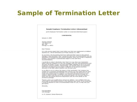 Cancellation Of Benefits Letter Termination Letter