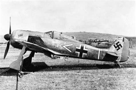 german aircraft of world war two focke wulf the german world war ii fighter pilot who accidentally landed his plane in west wales and
