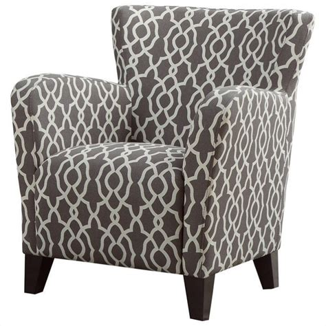 geometric patterned armchair uk fabric club chair in brown geometric pattern i 8071