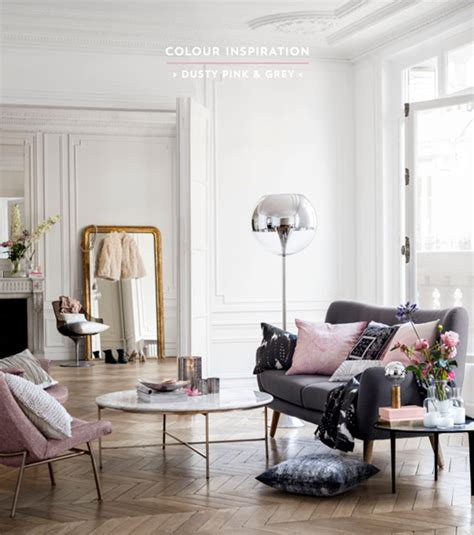 colour inspiration dusty pink amp grey interiors bright