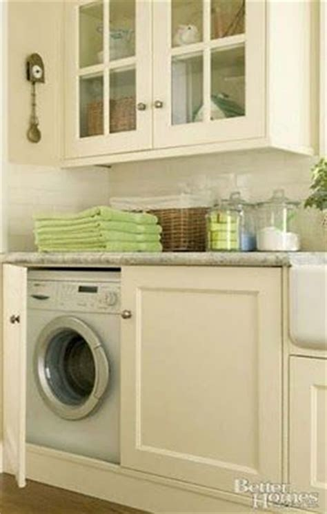 the way to hide your washer and dryer away from