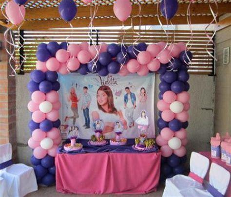 imagenes para cumpleaños de violeta ideas caseras para decorar una fiesta de violetta