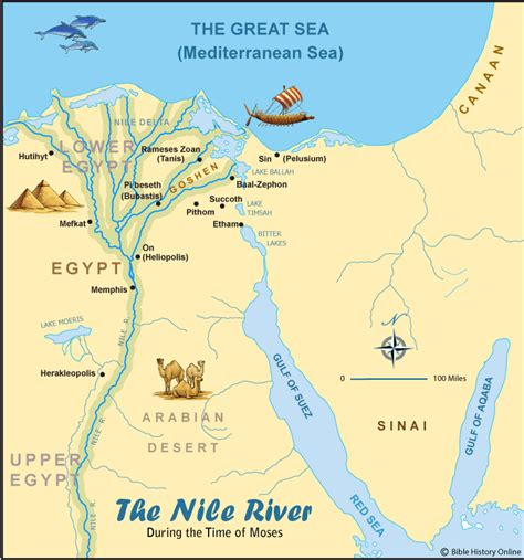nile river on a map the nile river testament maps bible history