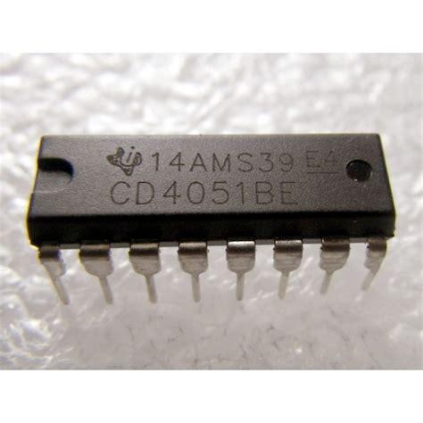 Cd 4051 Be Cd4051be cd4051be cd4051 multiplexeur d 233 multiplexeur 8 canaux analogiques komposantselectronik