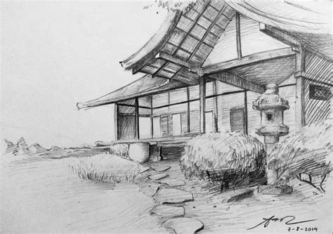 Country Houseplans by Traditional Japanese House Sketch By Aoicancerius On