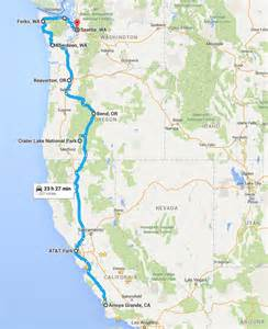 road map of oregon and california summer road trip 2016 california oregon and washington