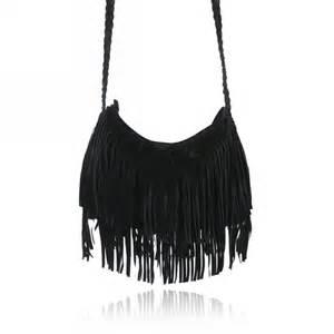 Fashion celebrity tassel suede fringe shoulder messenger handbag cross