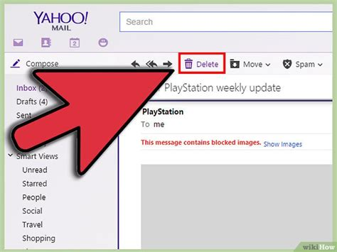 how to delete yahoo email 3 formas de borrar correo de yahoo wikihow