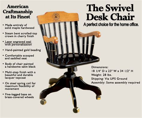 Academic Chair by Swivel Desk Chair Alumni Chair Commerative Chairs
