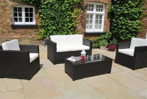 black patio furniture sets black rattan garden furniture