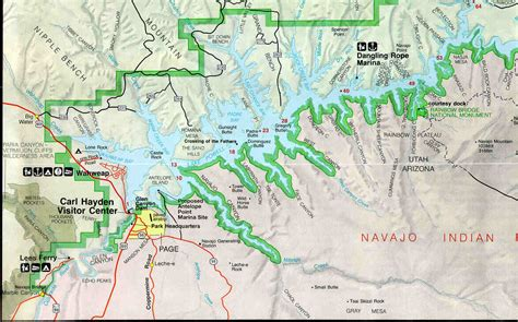 lake powell map lake powell houseboating report and review 1997
