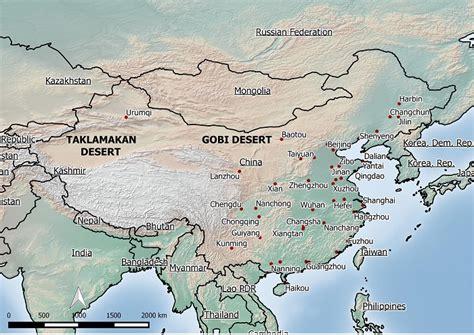 Galerry taklimakan desert map