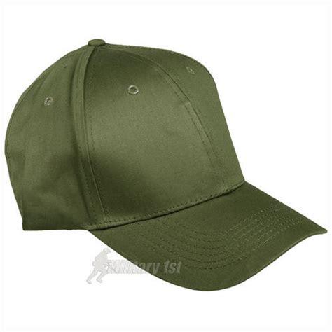 mil tec baseball cap with plastic band olive