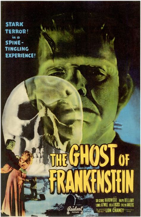 Poster Classic Vintage Frankenstein the ghost of frankenstein posters from poster shop
