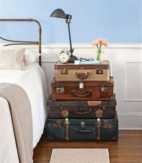 Vintage Suitcase Decor by Decorating With Vintage Suitcases For The Home