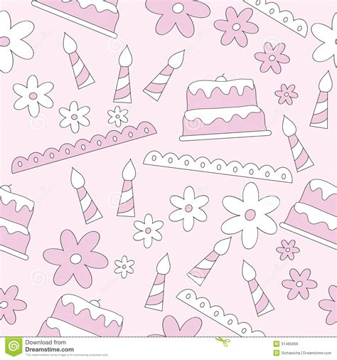 cake background pattern vector seamless pattern of birthday elements background royalty