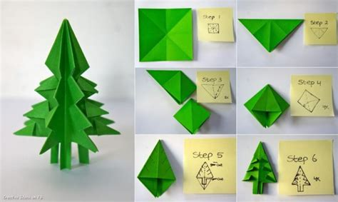 Paper Tree Origami - do it yourself tutorials trees decorations