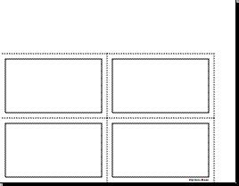 Blank Planner Page   3 x 5 index card format (in landscape