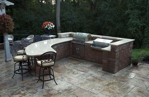 outdoor kitchen countertops outdoor kitchen new berlin wi photo gallery landscaping network