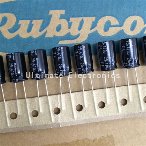 x7r capacitor ripple current 10pcs 470uf 25v rubycon zl series 10x16mm low impedance high ripple current 25v470uf capacitor