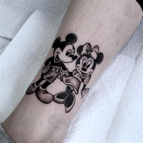 mickey mouse and minnie mouse couple tattoos mickey and minnie mouse minnie mouse