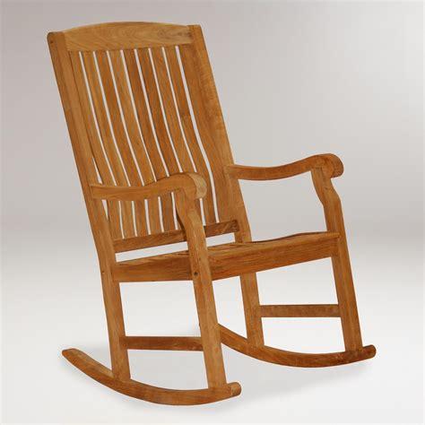 Teak Rocking Chairs by Teak Rocking Chair World Market
