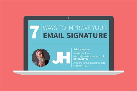 create perfect email signature infographic