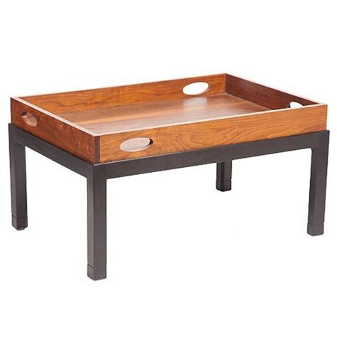 Large Tray For Coffee Table Coffee Table Made From Large Mid Century Walnut Butler S Tray On Custom Stand For Sale At 1stdibs