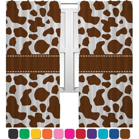 Cow Print Curtains Cow Print Curtains 20 Quot X84 Quot Panels Lined 2 Panels Per Set Personalized Youcustomizeit