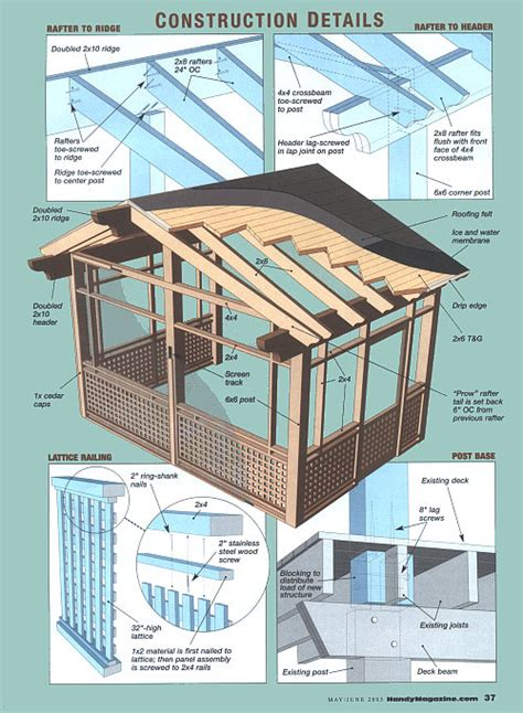 screen house plans screened porch plans diy