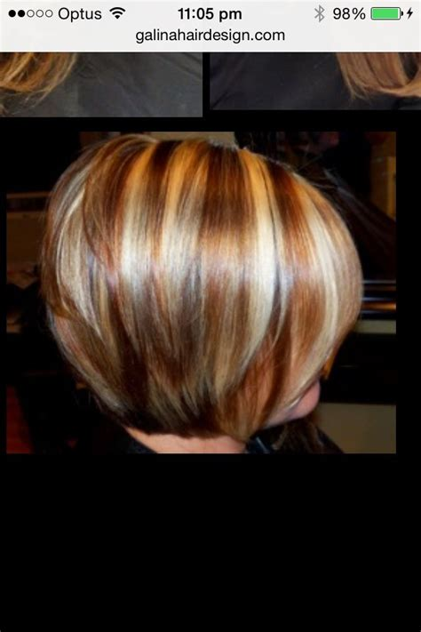 copper lowlights for short blonde hair copper stripes in bob hair colour pinterest copper