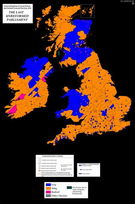1832 election map resources uk general election maps alternatehistory com wiki
